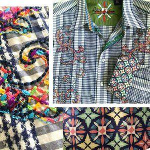 ROBERT GRAHAM Flip Cuff Embroidered Shirt